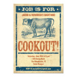 Old Fashioned Cookout Invitations
