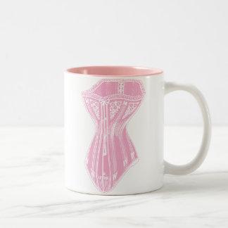 Old Fashioned Corset Pink Two-Tone Coffee Mug