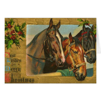 Old fashioned country Merry Christmas Card