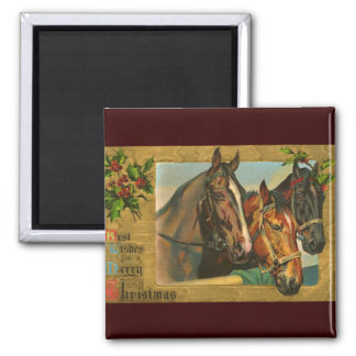 Old fashioned country Merry Christmas Refrigerator Magnet