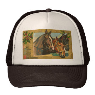 Old fashioned country Merry Christmas Trucker Hat