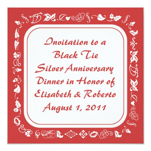 Old Fashioned Country Red & White Invitations