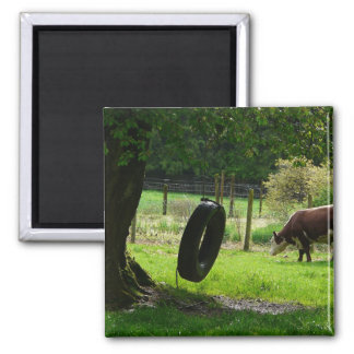 Old Fashioned Country Tire Swing Refrigerator Magnet