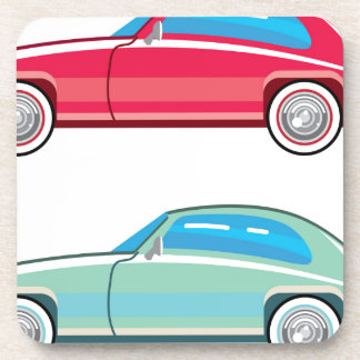 Old Fashioned Coupe Car Beverage Coaster