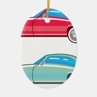 Old Fashioned Coupe Car Ceramic Ornament