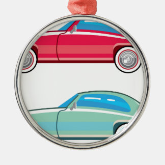 Old Fashioned Coupe Car Metal Ornament