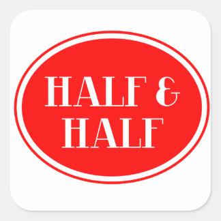 Old Fashioned Dairy Red Bottle Label Half & Half