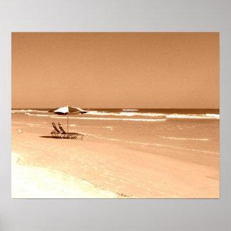 Old Fashioned Daytona Beach Photograph Poster