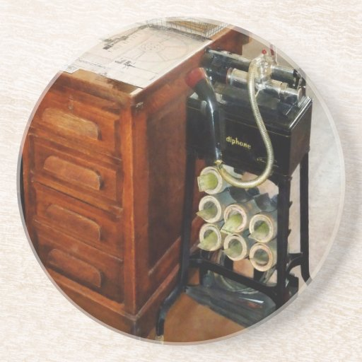 Old Fashioned Dictaphone Coaster
