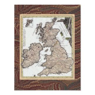 Old Fashioned English Pub Crawl Birthday Party 4.25x5.5 Paper Invitation Card