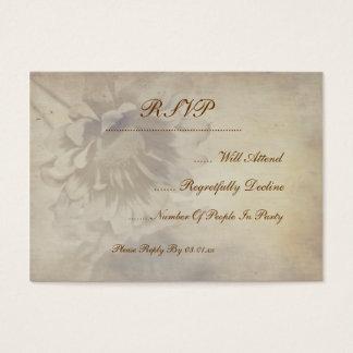 Flowers Wedding Rsvp Business Cards & Templates | Zazzle