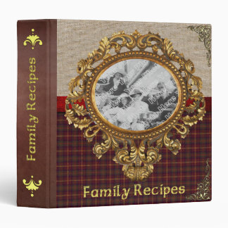 Old Fashioned Family Recipe Binder - Customizable!