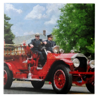 Old Fashioned Fire Engine Ceramic Tile