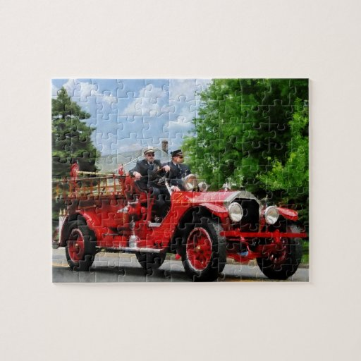 Old Fashioned Fire Engine Jigsaw Puzzle