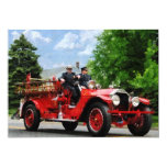 Old Fashioned Fire Truck 5x7 Paper Invitation Card