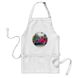 Old Fashioned Fire Truck Adult Apron
