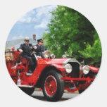 Old Fashioned Fire Truck Classic Round Sticker