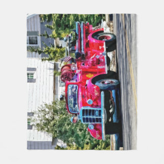 Old Fashioned Fire Truck Fleece Blanket