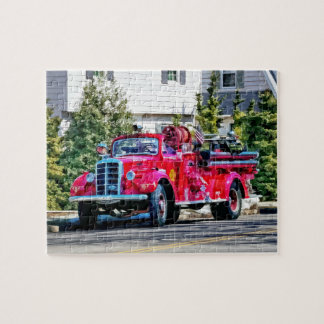 Old Fashioned Fire Truck Jigsaw Puzzle