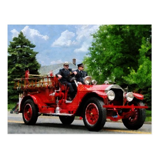 Old Fashioned Fire Truck Postcards