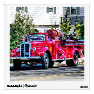 Old Fashioned Fire Truck Wall Sticker