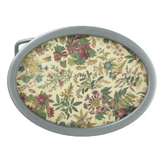 Old Fashioned Floral Abundance Belt Buckle