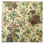 Old Fashioned Floral Abundance Ceramic Tile