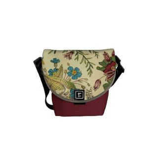 Old Fashioned Floral Abundance Courier Bag