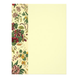 Old Fashioned Floral Abundance Letterhead
