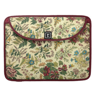 Old Fashioned Floral Abundance MacBook Pro Sleeves
