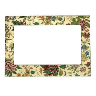 Old Fashioned Floral Abundance Magnetic Photo Frame