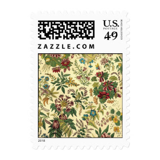 Old Fashioned Floral Abundance Postage Stamps