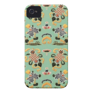 Old Fashioned Floral on Mint Green Case-Mate iPhone 4 Case