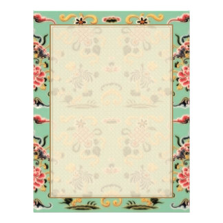 Old Fashioned Floral on Mint Green Letterhead