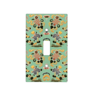 Old Fashioned Floral on Mint Green Light Switch Cover