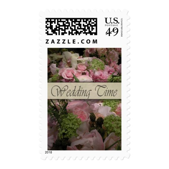 Old fashioned flower decoration postage