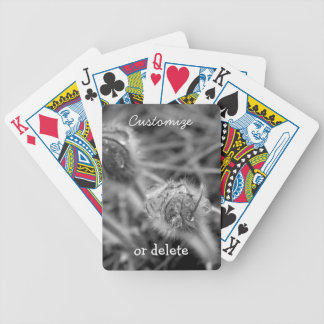 Old Fashioned Flowers; Customizable Bicycle Playing Cards