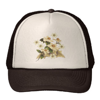 Old-Fashioned Flowers Mesh Hats