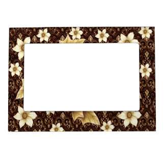 Old-Fashioned Flowers Magnetic Picture Frame