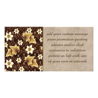 Old-Fashioned Flowers Personalized Photo Card