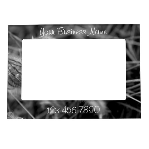Old Fashioned Flowers; Promotional Magnetic Photo Frame