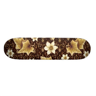 Old-Fashioned Flowers Skate Boards