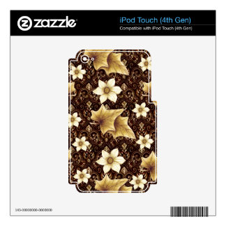 Old-Fashioned Flowers iPod Touch 4G Skins