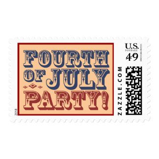 Old Fashioned Fourth of July Celebration Party Postage