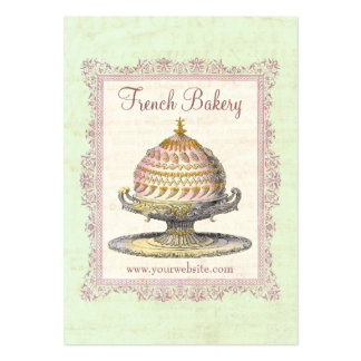 Old Fashioned French Bakery Vintage Large Business Card