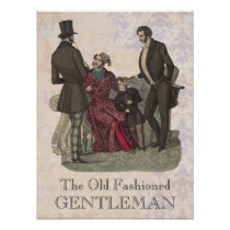 Old Fashioned Gentlemen Biedermeier Period Poster