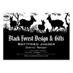 Old Fashioned Germanic Style Business Card - Deer