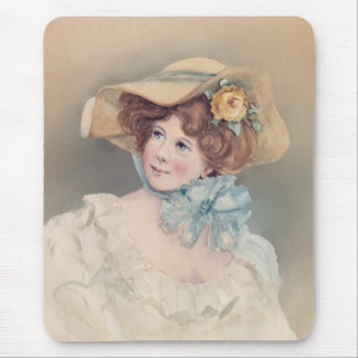 OLD FASHIONED GIRL by SHARON SHARPE Mouse Pad
