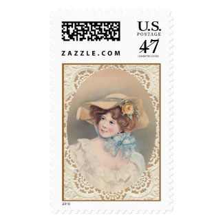 OLD FASHIONED GIRL by SHARON SHARPE Postage