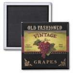 Old Fashioned Grapes Vintage Magnet